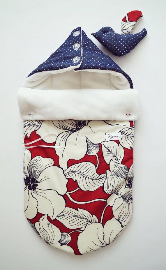 Sleeping bag for newborn autumnwinter  by OrigamicoWorkshop