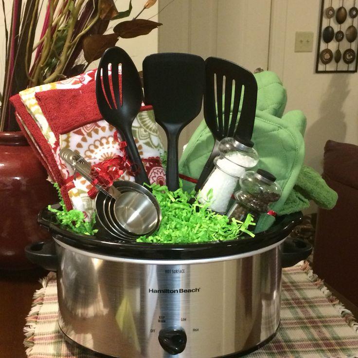 My crockpot wedding shower basket!