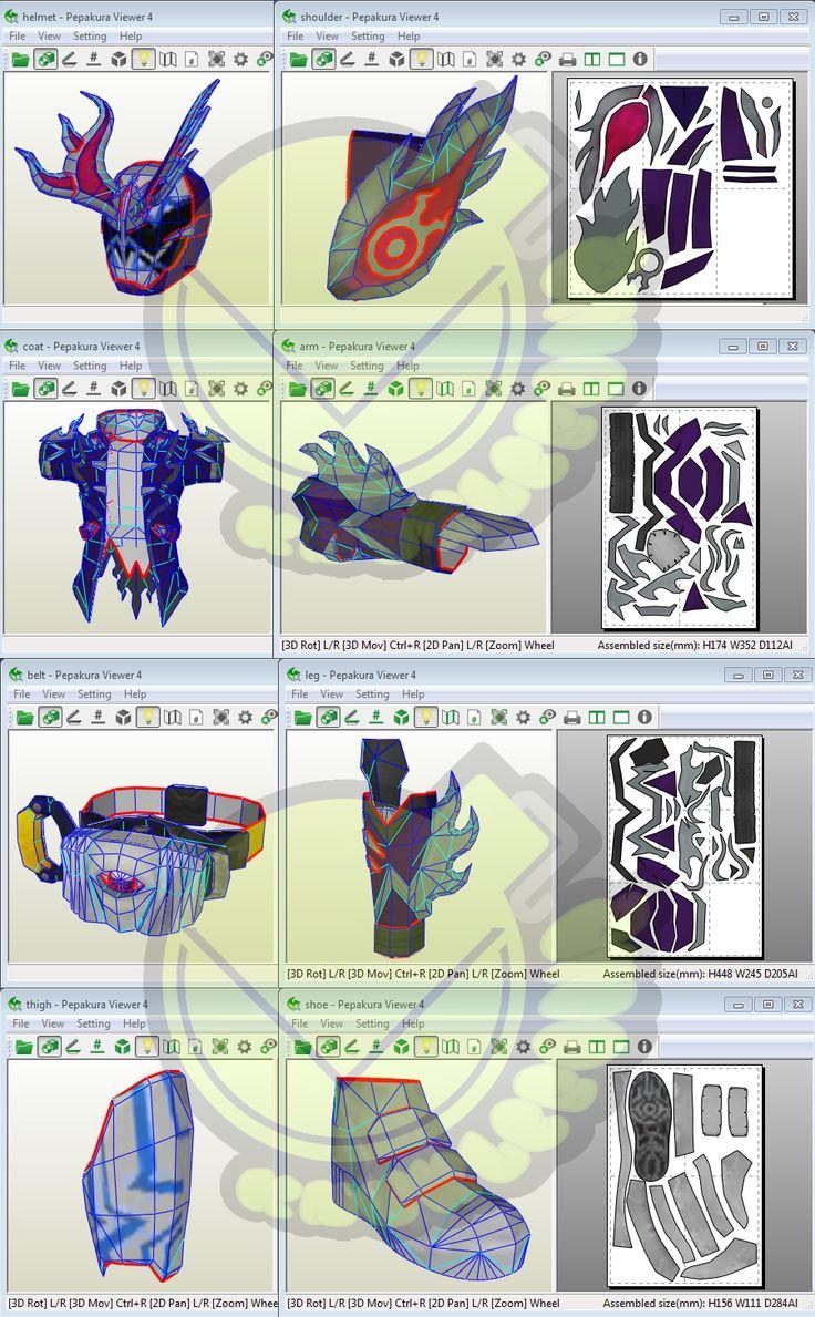 Kamen Rider Deep Spectre Costume Template / Pattern Pepakura 3D Model