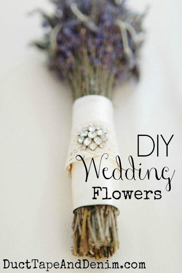DIY Wedding Flowers, how to make a lavender bridal bouquet for an elegant rustic outdoor wedding | DuctTapeAndDenim.com