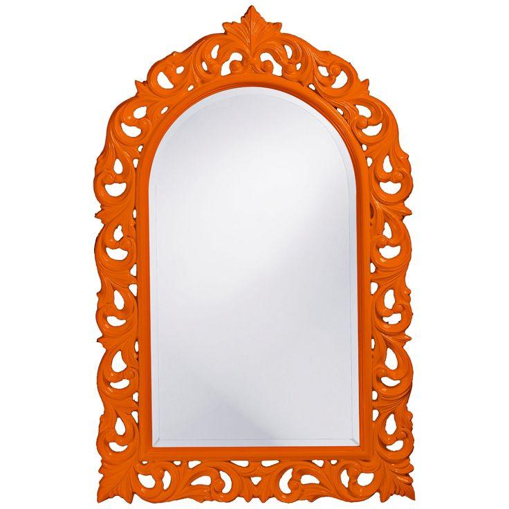 "Howard Elliott Orleans 30"" X 47"" Orange Wall Mirror - Style # 5G915"