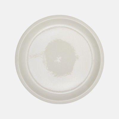 Assiette plate Cantine craie