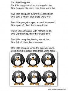 » Six Little Penguins Flannel Board - Free printable! Nuttin' But Preschool