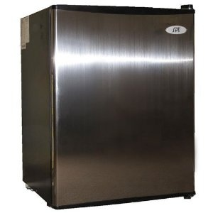 spt 2.5 cu ft compact refrigerator in stainless