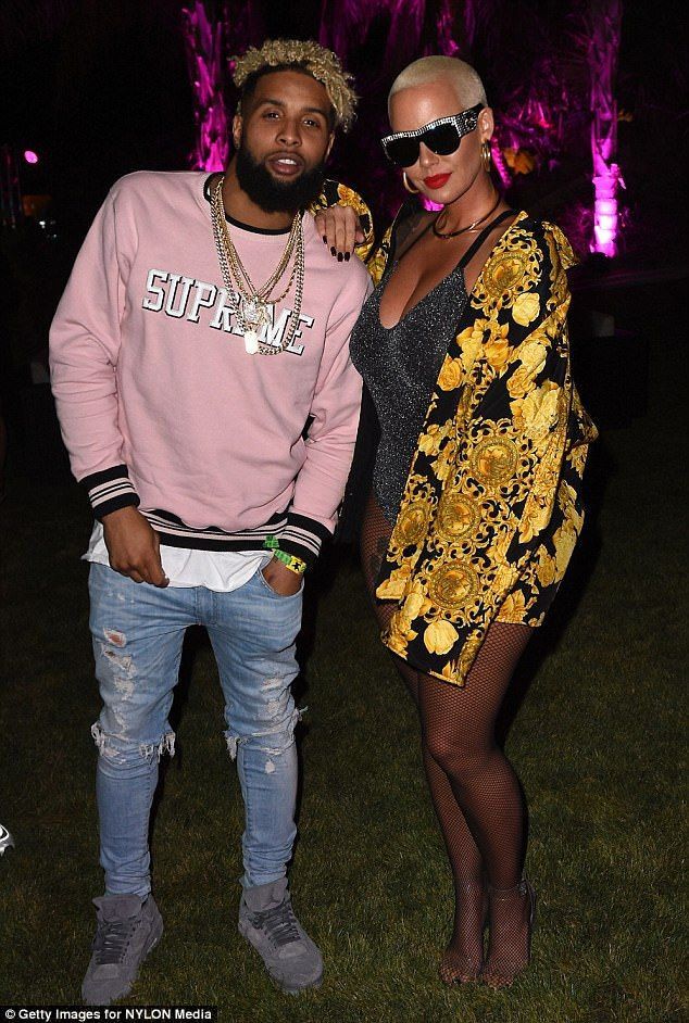 Amber Rose and Odell Beckham Jr spark rumors of a romance #dailymail