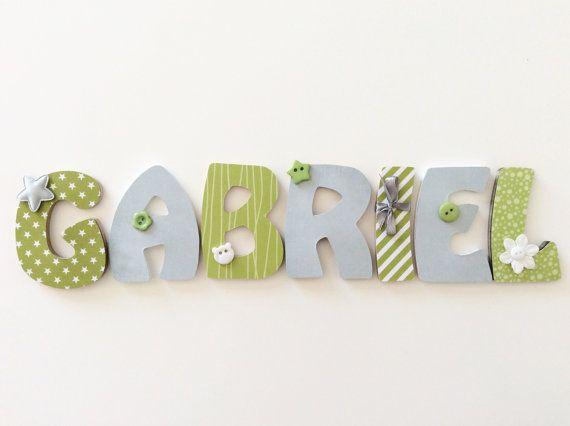 Lettres en bois personnalisées pour chambre enfant et di OCocon9