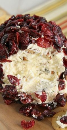 Pecans, cream cheese, good quality sharp white cheddar cheese, salt, Worcestershire sauce & dried cranberries