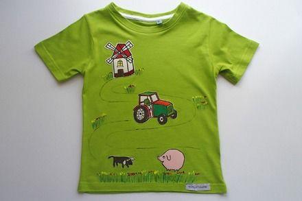 su ALittleMarket: T-shirt da bambino, in puro cotone - fattoria : Moda bambino di mompatchwork