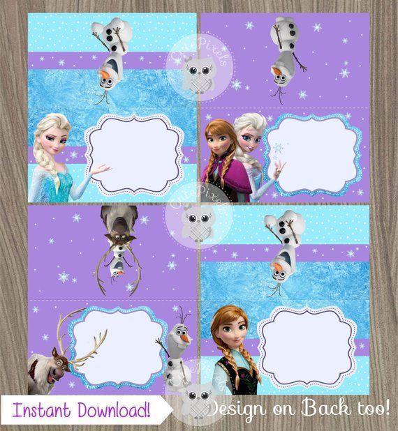 Frozen Place Cards Frozen Food Labels Frozen Tent Cards
