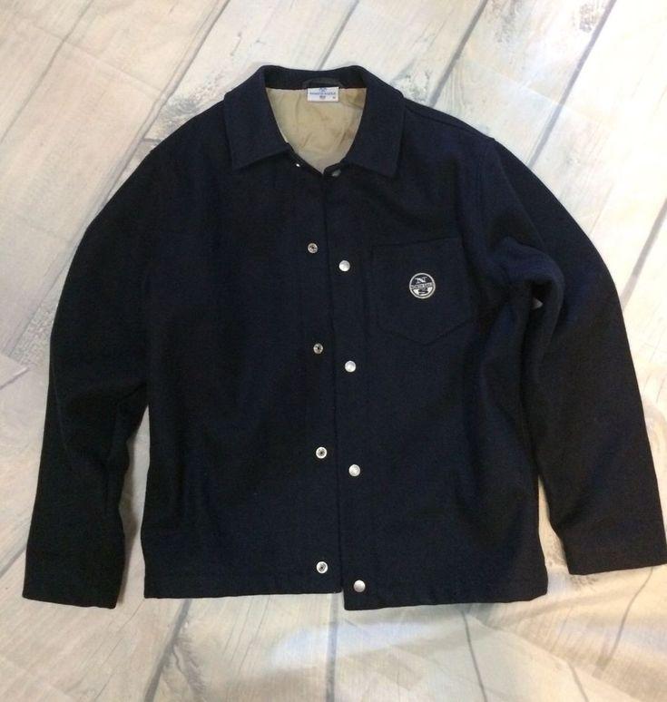 Men's North Sails Navy Blue Wool Blend  Sailing Jacket  Sz M    eBay
