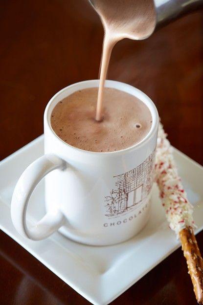Escape the cold Dallas weather with a warm cup of cocoa.