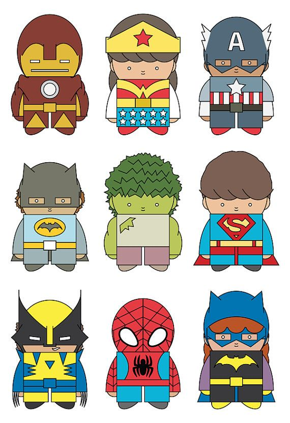 Little Superheroes by mintparcel on Etsy, $12.00
