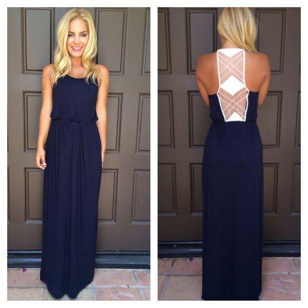 Marks the Spot Maxi Dress - NAVY