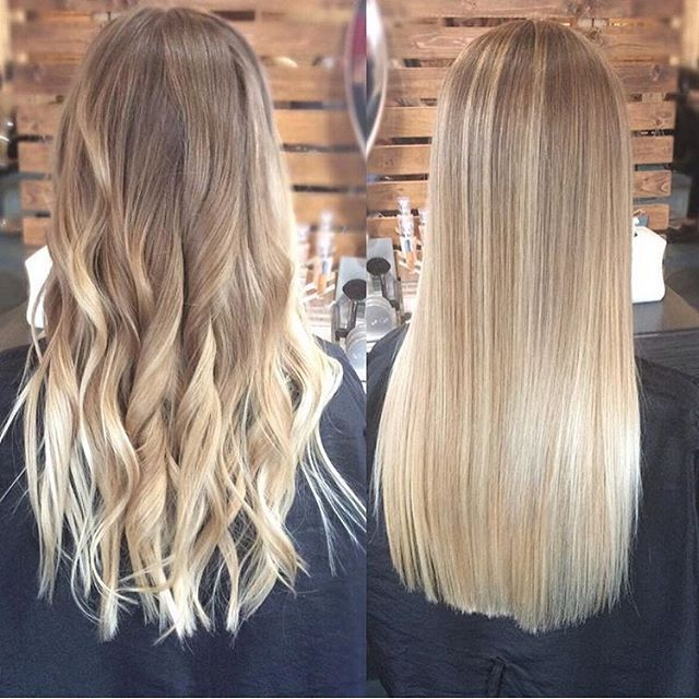 Better curly or straight? Beautiful either way! Color by @hairbycarlygillam - Looking for Hair Extensions to refresh your hair look instantly?