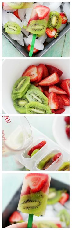 Strawberry Kiwi Popsicles | www.diethood.com | Super easy, delicious, and healthy! | #recipes #popsicles #healthyrecipes