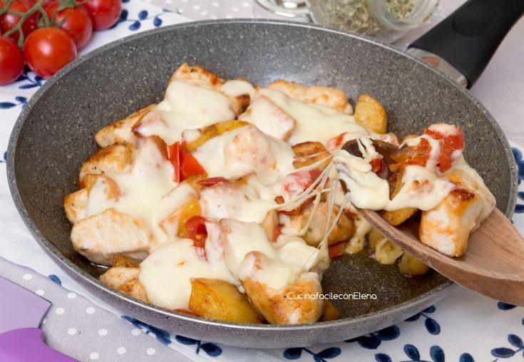 Bocconcini di Pollo e Patate alla Pizzaiola in Padella