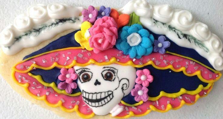 Hermosa galleta para celebrar día de muertos en México.