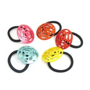 Colourful hair elastics Florine Hårelastik – 5 cm ALL