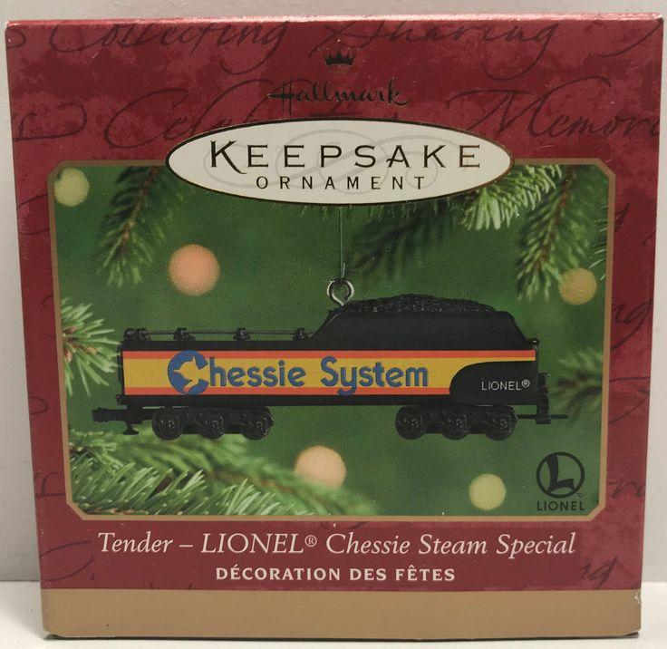 TAS039679 - 2001 Hallmark Keepsake Ornament Lionel Chessie Steam Special Tender