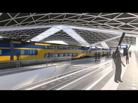 Impressievideo nieuw Centraal Station Tilburg