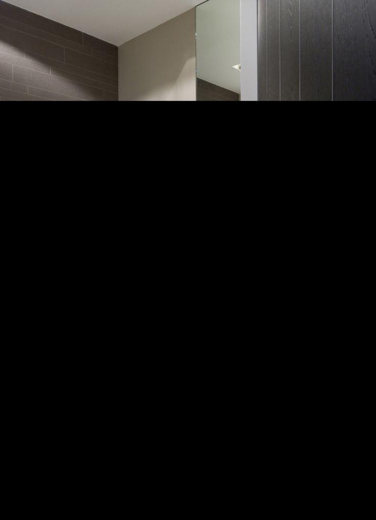 Sennah Studio - Badkamer 04 - Toilet met donkere kleuren en wastafel