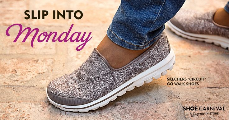 The perfect cure for a manic Monday are slip-on shoes like these sporty chic @Skechers Go Walk! #style #ideas #fashion