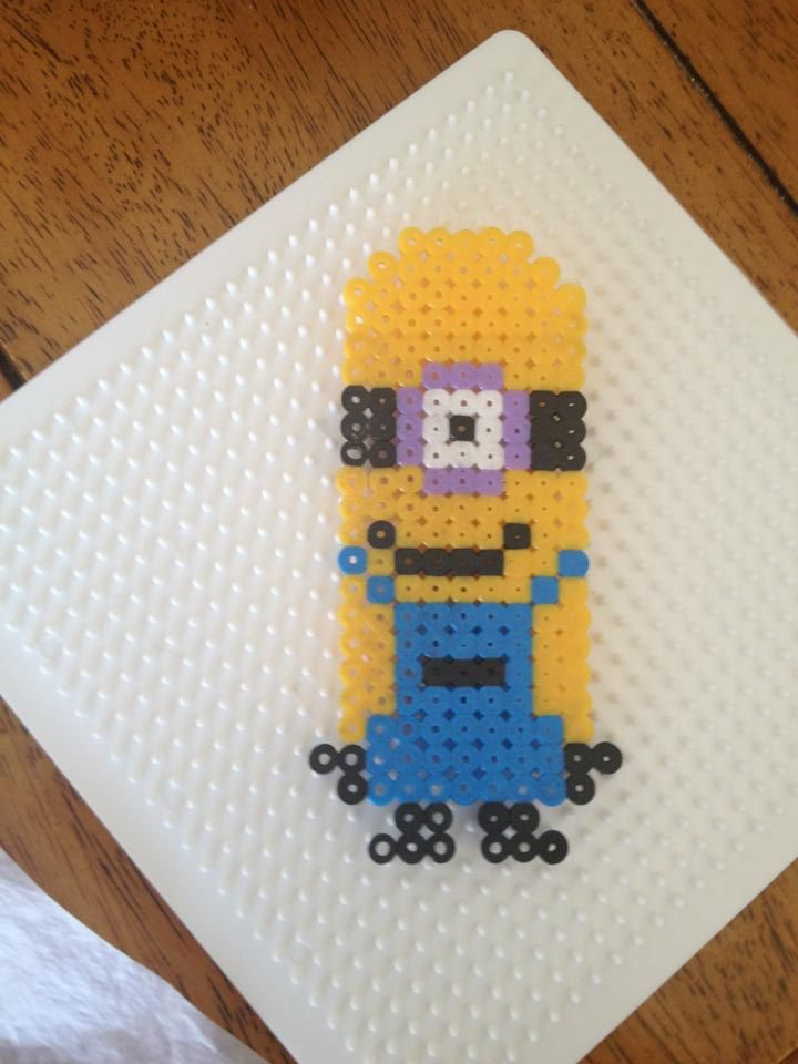 Dispicable me Minion- Pyssla Beads from ikea