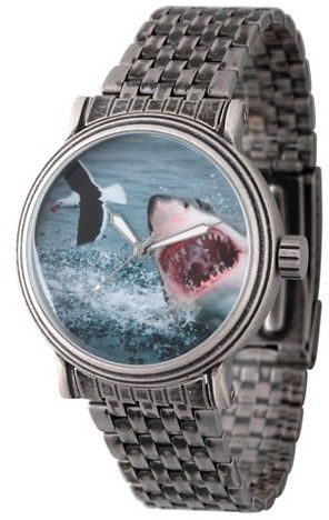 Discovery Channel Men's Discovery Channel Shark Week Antique Silver Vintage Alloy Watch - Silver