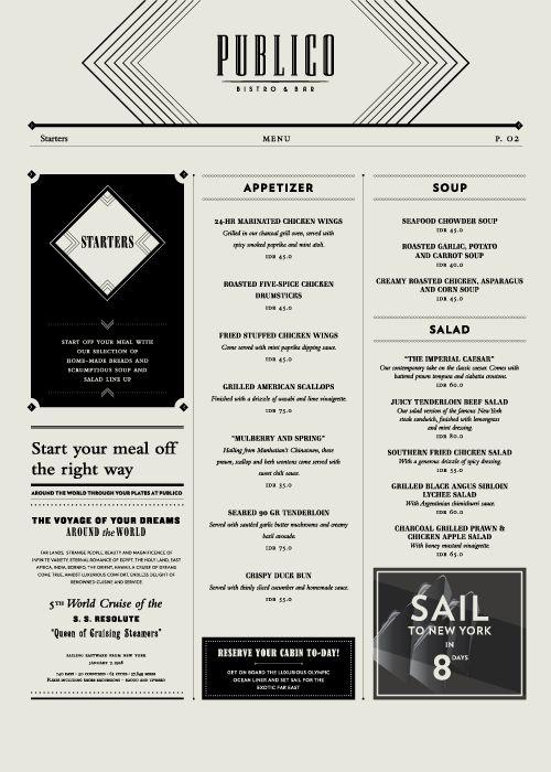 Art of the Menu: Publico Bistro & Bar