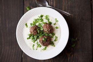 Turkish Yogurt Soup with Lamb Meatballs Recipe on Food52 recipe on Food52