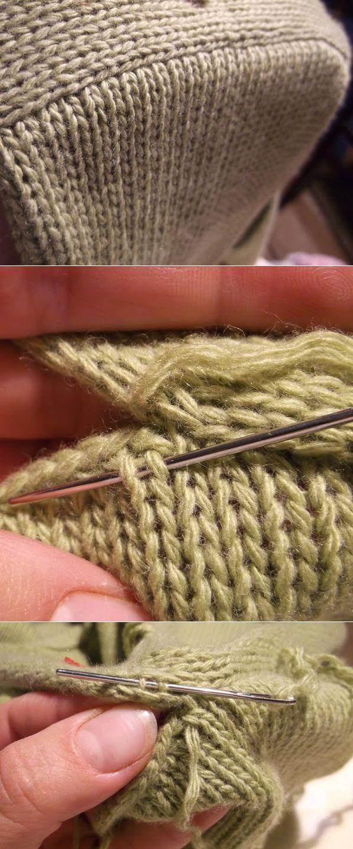 Как красиво вшить рукав в вязанное спицами изделие.