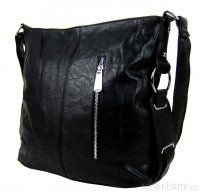 Černá crossbody kabelka MAHEL 67-MH