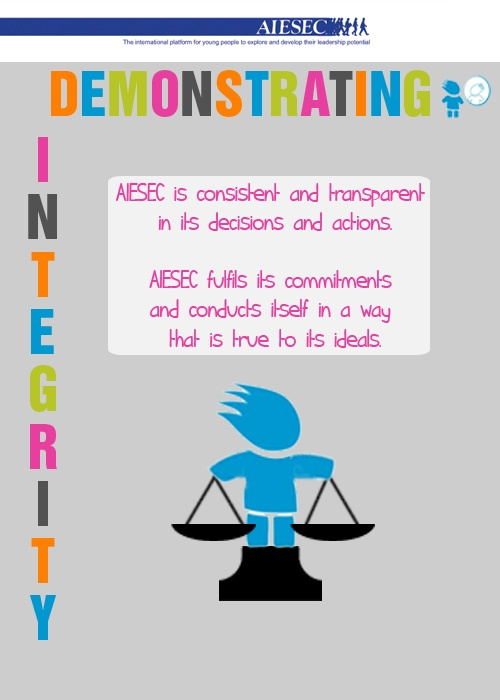 AIESEC Value: Demonstrating Integrity