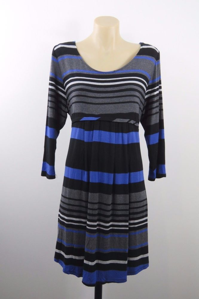 Size L 14 Ladies Striped Top Tunic Chic Retro Casual Indie Boho Vintage Design #SuzanneGrae #Tunic #Casual