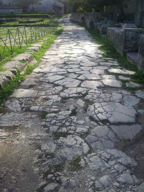 Saepinum. Il Decumano ad Est verso la Porta Beneventum. ©F Laurelli 2012