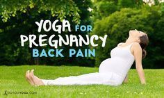 Do you experience back pain in pregnancy? Yoga is here to help! Here's some great yoga for pregnancy back pain. Try them out, and feel better! #pregnancyyoga,