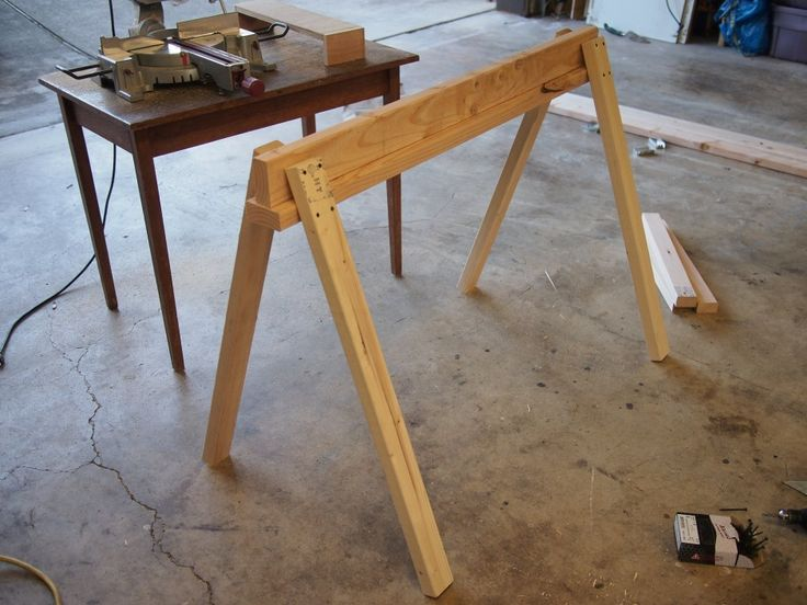 17 best images about work bench on pinterest diy Sawhorse desk legs