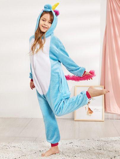 c6496e5d6e5e Shop Christmas Kids Plush Unicorn Onesie online. SheIn offers Christmas  Kids Plush Unicorn Onesie   more to fit your fashionable needs.