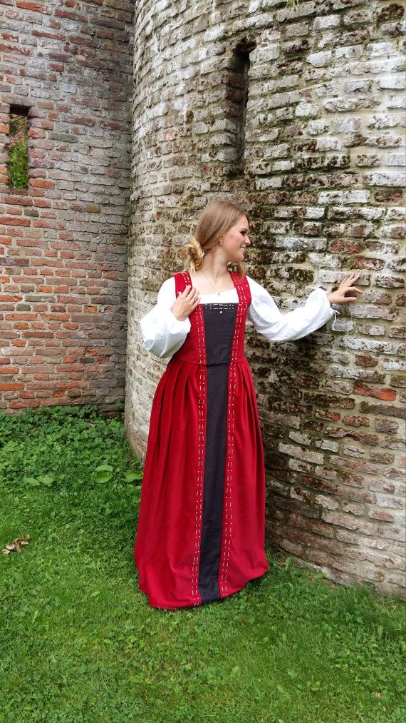 16e eeuwse Italiaanse Renaissance jurk - op maat gemaakt