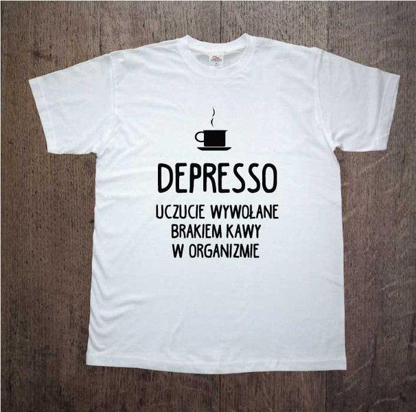 Depresso+PL,+Męska+koszulka+z+nadrukiem,+w+DDshirt+na+DaWanda.com