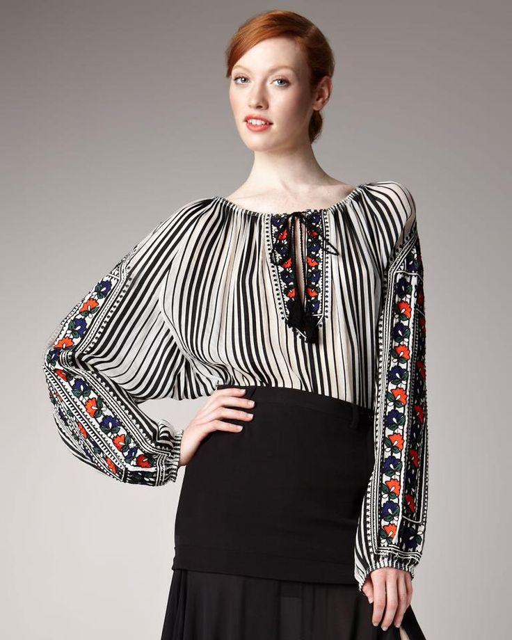 Jean Paul Gaultier 2006 inspired by the #RomanianBlouse
