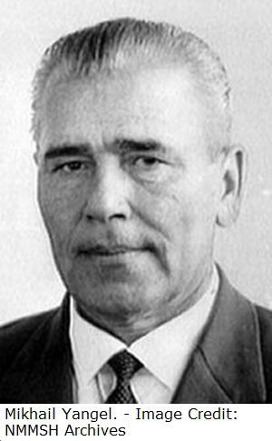 Michael Yangel (1911-1971) was a leading missile designer in the Soviet Union. He set up a rocket propulsion center in Dnipropetrovsk, Ukraine which later formed the basis of his own design bureau in 1954. His bureau designed the R-12, R-16 and R-36, whose launch vehicle adaptations are known as Cosmos, Tsyklon, Dnepr respectively are still in use today.: