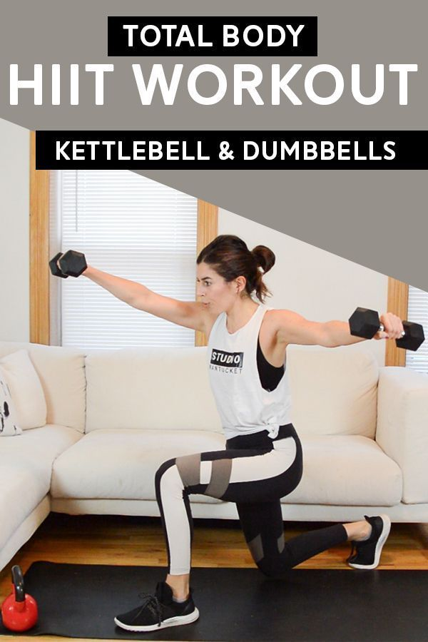 Total Body Hiit Workout Kettlebell Dumbbells Pumps Iron Hiit Workout Hiit Workouts Kettlebell Hiit Workout At Home