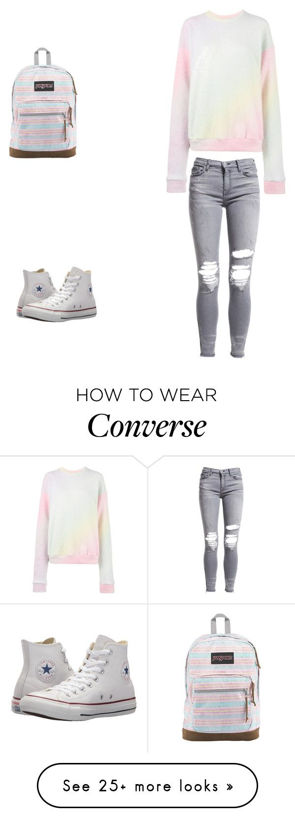 """Untitled #100"" by nikita0316 on Polyvore featuring AMIRI, The Elder Statesman, Converse, JanSport and pastelsweaters"