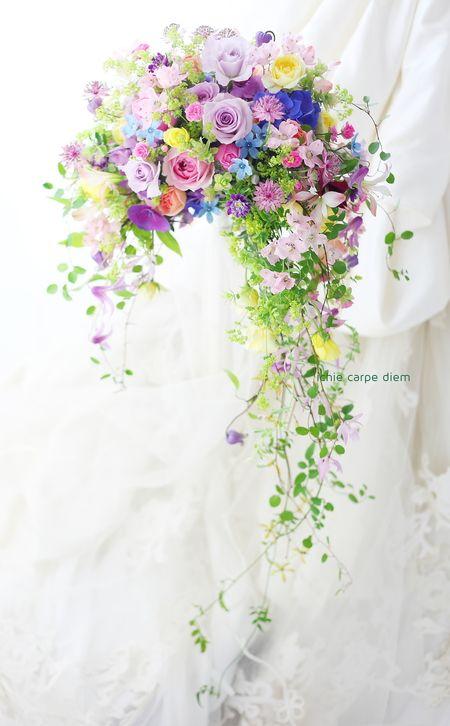 ウェディングの花の演出とブーケ。たった一日の花、でもいつまでも残る花を。