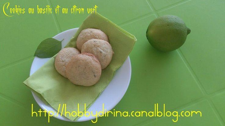Cookies au basilic et au citron vert / Печенье с базиликом и лаймом