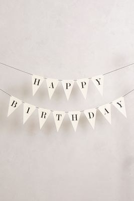 Anthropologie Happy Birthday Garland