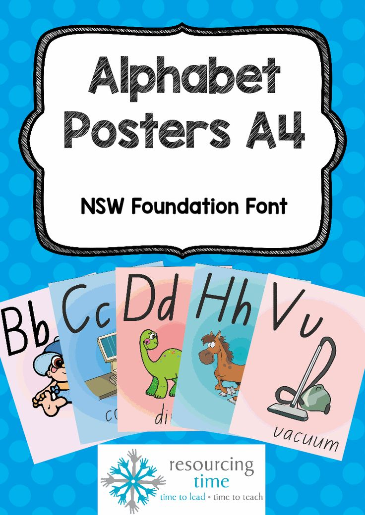 Eye catching Alphabet Posters in NSW Foundation Font!