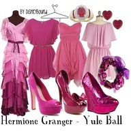 outfits inspired by Hermione, Yule Bal Recreation