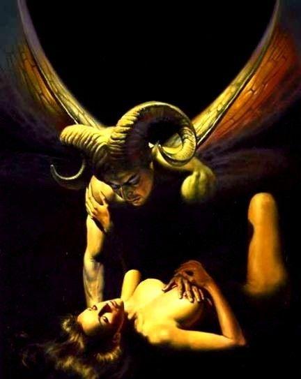 INCUBUS é um demônio na forma masculina que supostamente mentia, em especial para as mulheres, a fim de ter relações sexuais com elas, de acordo com uma série de tradições mitológicas e lendárias. Algumas fontes indicam que ele pode ser identificado pelo seu pênis anormalmente grande ou frio. São anjos caídos por causa do seu desejo por sexo.